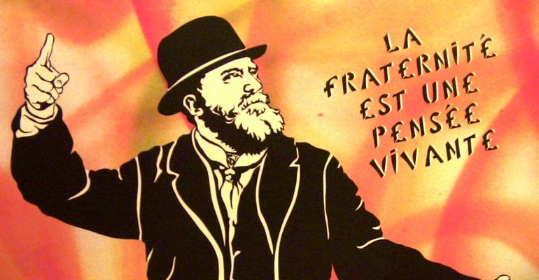 Aperçu de l'affiche des voeux du conseil municipal d'Aulnay-sous-Bois pour l'année 2014. Pour ces besoins, la mairie a fait appel à l'artiste urbaine Misstic. | (C) 93600INFOS/Alexandre Conan