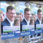 Affiches municipales Bruno Beschizza panneau - Aulnaylibre!