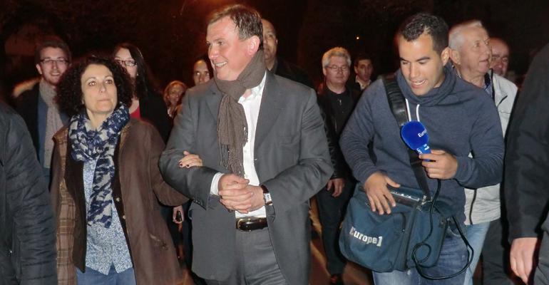 Bruno Beschizza cortège élections municipales 2014 - 93600INFOS Alexandre Conan