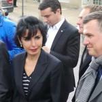 Alain Lamassoure et Rachida Dati en visite à Aulnay-sous-Bois