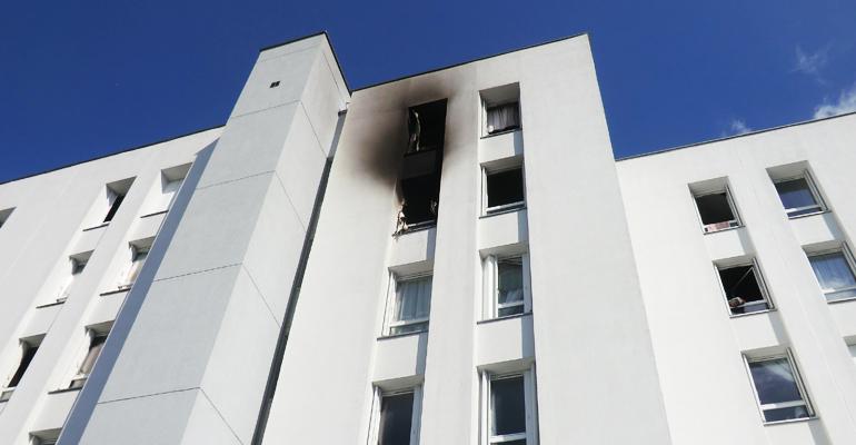 L'incendie a débuté dans la chambre d'une adolescente au 30 rue de Tourville. | (C) 93600INFOS / Alexandre Conan