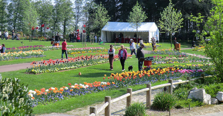 Chaque année, le service des espaces verts participe à l'embellissement de la ville. Comme ici au parc Robert Ballanger avec des diverses plantations. | (C) 93600INFOS / Alexandre Conan