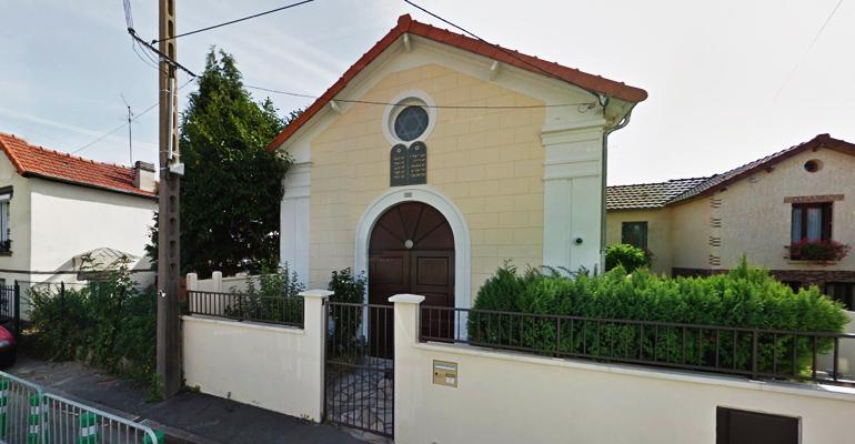 La synagogue de la rue Clermont-Tonnerre, à Aulnay-sous-Bois. | Google maps