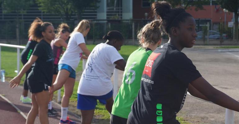 Les entraînements ont repris depuis une quinzaine de jours pour les Amazones du AHB. | (C) Aulnay Handball