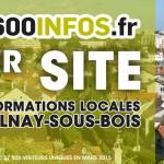 En mars 2015, 93600INFOS.fr est devenu 1er site d'informations locales d'Aulnay-sous-Bois