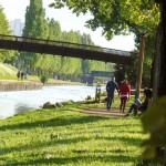 En Mai, profitez de la beauté des berges du Canal de l'Ourcq !