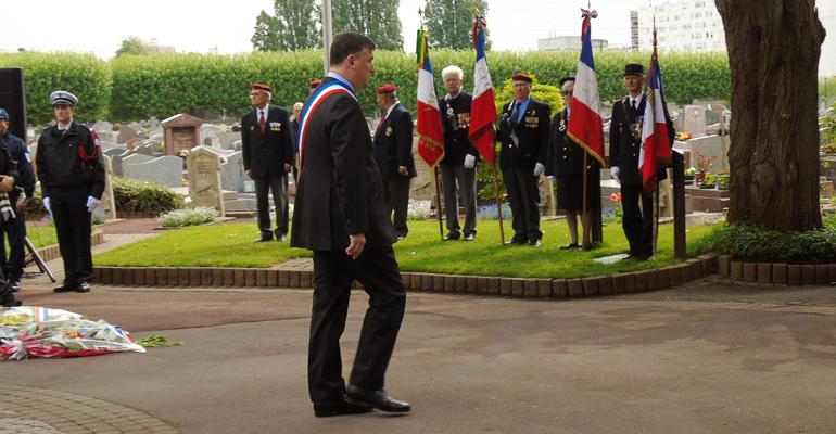 Bruno Beschizza, maire d'Aulnay-sous-Bois, pendant son discours - (C) Alexandre Conan / 93600INFOS
