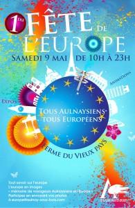 Affiche 1ère Fête de l'Europe - 9 Mai 2015
