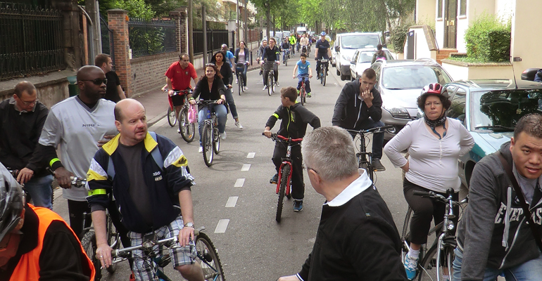 Comme depuis de nombreuses années, les habitants sont invités à profiter de la fête du vélo pour participer à une rando-vélo dans la ville. | (C) 93600INFOS / Alexandre Conan