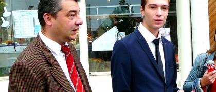 Cyril Bozonnet, responsable local du FN à Aulnay-sous-Bois (à gauche) accompagné de Jordan Bardella, secrétaire départemental du FN en Seine-Saint-Denis (à droite). | © DR