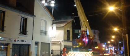 L'incendie n'a fait aucune victime. | © Aulnaylibre!