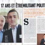 Un jeune militant Les Républicains d'Aulnay-sous-Bois est en interview dans Marianne cette semaine