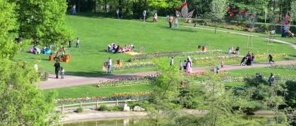 Le Parc Robert Ballanger d'Aulnay-sous-Bois propose près de 30 hectares de verdure, dans un ensemble paysager exceptionnel, traversé de larges allées arborées.   © Alexandre Conan / 93600INFOS.fr