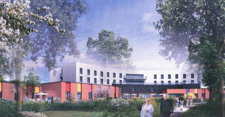 C'est un établissement médical flambant neuf qui va être construit à la place de l'ancien centre Bigottini. | (C) Jean Amoyal architecte