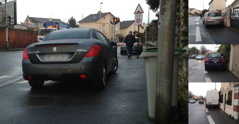 Multitude de voitures chaque matin sur le chemin des lycéens qui passent par la rue Jules Valles. | (C) 93600INFOS / Alexandre Conan