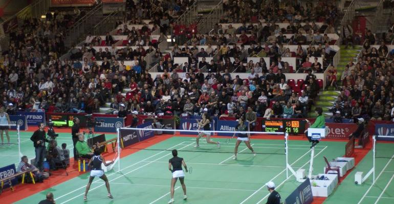 De très nombreux spectateurs venus de toute la France ont pu assister au triomphe des badistes aulnaysiens.   (C) FFbad