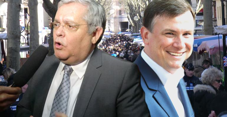Gérard Ségura et Bruno Beschizza figurent en tête d'un sondage au sujet du 1er tour des municipales 2014 à Aulnay-sous-Bois.   Montage - (C) Tous droits réservés
