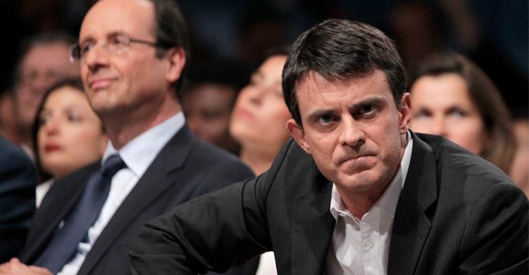 L'Elysée assure qu'il y a « consensus absolu » entre Hollande et Valls sur la démission du gouvernement.   (C) DR