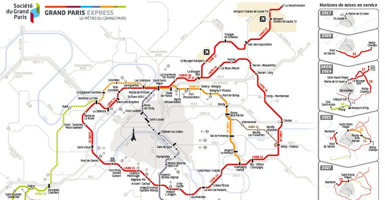 Le Grand Paris Express doit permettre de développer les transports inter-banlieues sans passer par la capitale.   (C) Société du Grand Paris