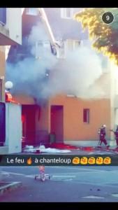 Un habitant a partagé des images de l'explosion sur le réseau social Snapchat.   (C) DR