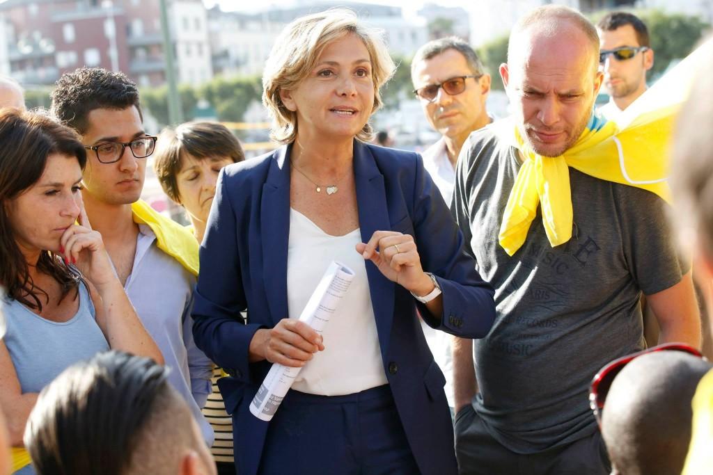 Valérie Pécresse est en campagne de terrain depuis de nombreux mois pour tenter de gagner l'Île de France.   © Alain Guizard