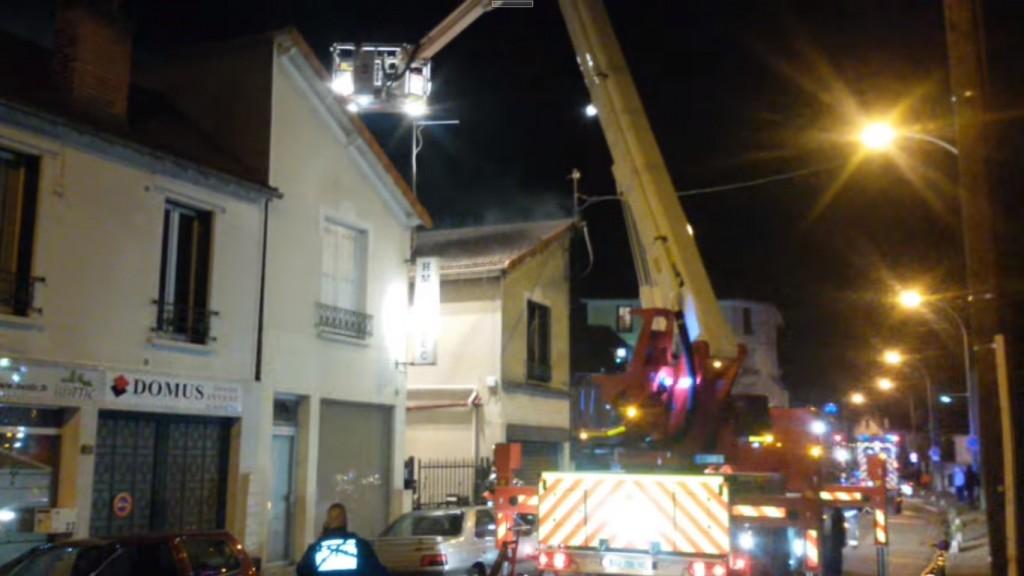 L'incendie n'a fait aucune victime.   © Aulnaylibre!
