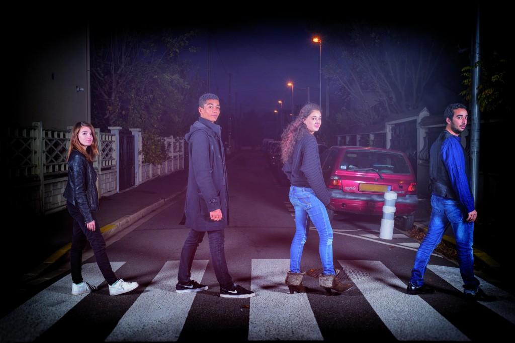 Anaïs, Théo, Einath et Monir (de gauche à droite) défendaient les couleurs d'Aulnay-sous-Bois pour représenter la France au concours de l'Eurovision 2016.   © A.Gallosi/Mairie d'Aulnay-sous-Bois
